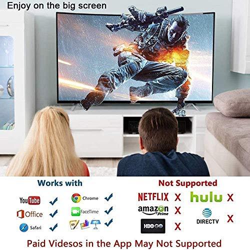 HAL Adaptateur HDMI pour i-Phone vers TV, 1080P HD Digital AV HDMI Adapter Câble HDMI Converter, Compatible avec i-Phone X, XR, XS, XS Max, iPad Air, Mini, Pro, iPad, iPod vers TV Moniteur Projecteur