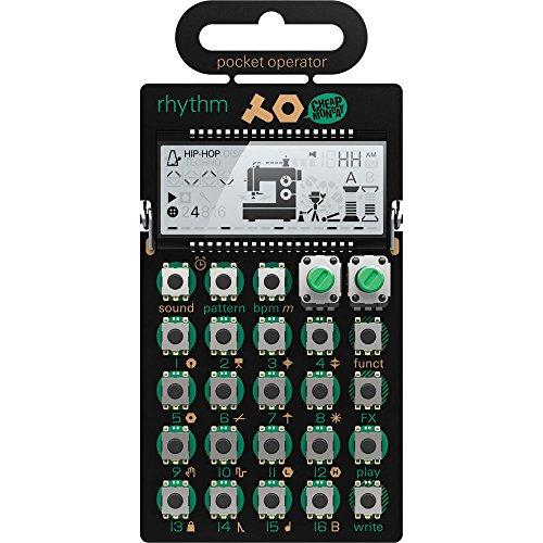 Teenage Engineering PO-12 Rhythm - Drum Machine Pocket Operator (16 Step Sequenzer, 16 Sounds, 16 Pattern, 16 Effekte, Lautsprecher, Line In/Out, LCD-Display)