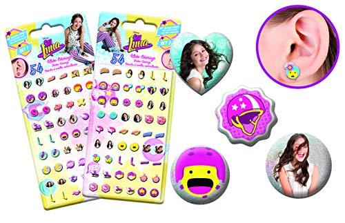 SOY LUNA Craze Kinderschmuck Soy Illustrated O 55619–Ohrringe selbstklebend Schmuck, Mehrfarbig