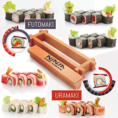 Kit per fare sushi per cucinare – Set di rotoli di sushi fatti in casa – Scatola regalo – Macchina per sushi – Fai il tuo sushi in casa – rendi il tuo sushi semplice e facile