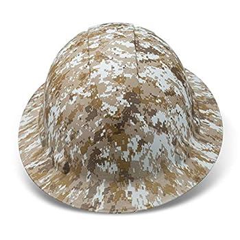 Full Brim Hard Hat Construction OSHA Hardhats Men Women Safety Helmet 6 Point Custom Camouflage Design By ACERPAL Desert Storm Camo