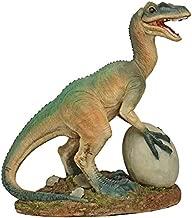 Design Toscano JQ6619 The Egg Beater Raptor Dinosaur Statue, Full Color