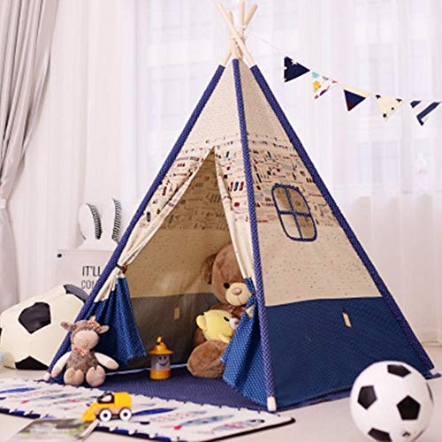 YLJB Kids Play Tent Teepee Tent Indian Cotton Tents For Baby Indoor And Outdoor Playing Ideal Size For Children's Rooms Party And Holidays Decoration Children's Play House