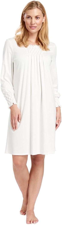 Feraud 388303810044 Women's Champagne White Cotton Night Gown Loungewear