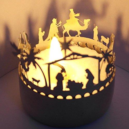 KRIPPE ORIENT Schattenspiel, liebevoll gestaltet Super Minigeschenk und Mitbringsel, für Teelicht, unbegrenzt wiederverndbar,günstiger Postversand, Adventskalenderfüllung,Wichtelgeschenk,Grußkarte