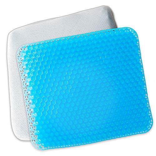 アイリスプラザ クッション ゲルクッション ハニカムジェル 体圧分散 耐久性 通気性 蒸れにくい シートクッション 座布団 おうち時間 テレワーク ネイビー