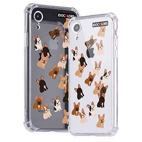 Idocolors Handyhülle für iPhone 6 Plus / 6s Plus Süßer Hund Hülle Transparent Durchsitig Stoßfest [ Eckenschutz + Weiches TPU ] Dünn Slim Case Cover Bumper Schtzhülle