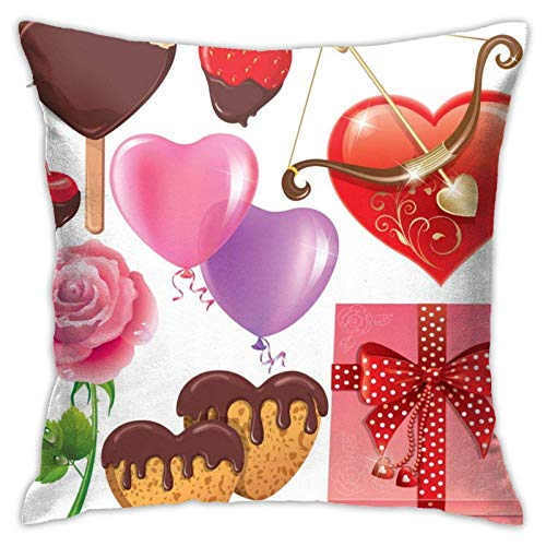 Valentine's Day Pillow Case Cover Pillow 18inch20inch Two Sides with Printed Pillowcase Home Decoration