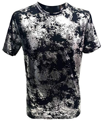 X-FEEL - Camiseta de manga corta para hombre, diseño de calavera, estampado en 3D y teñido, cuello redondo, manga corta Tinte nudo S