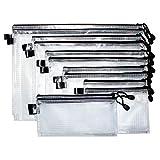 Dokumententasche (12 Stück) - Reißverschlussbeutel mit Trageband, Reißverschluss in verschiedenen...