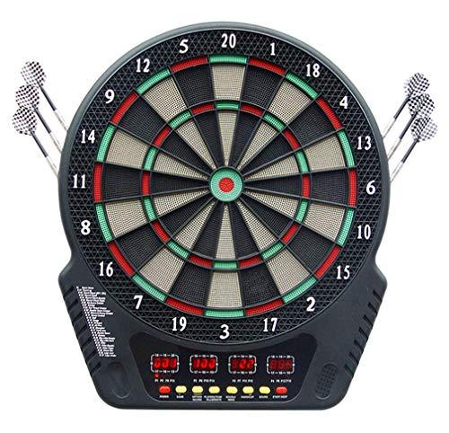 AWSW Spiel hängen Spielen Indoor elektronische Darts Ziel automatische Scoring Voice Broadcast Soft Darts Disk Safe Entry Praxis Heimspiel 44 * 50,5 * 3,2 cm Gitter magnetische Dartscheibe