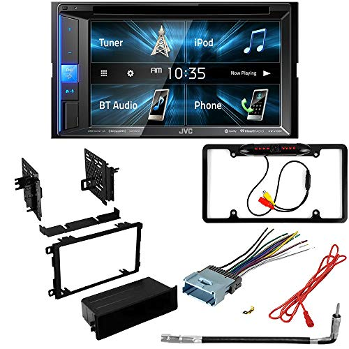 CACHÉ KIT3338 Bundle with Complete Car Stereo Installation Kit with Receiver– Compatible with 2001–2004 Oldsmobile Alero – Bluetooth Touchscreen, Backup Camera, Double Din Dash Kit (5Item)