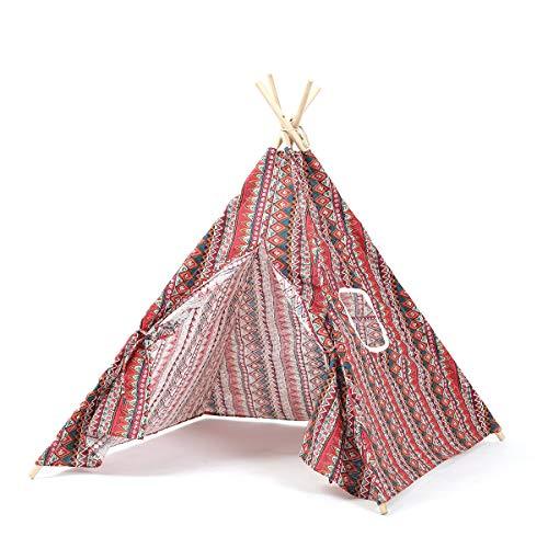 Angle-w Tragbares Tipi für den Innenbereich, zusammenklappbar, lustiges und tragbares Übungszelt, Geburtstagsspielzeug, stilvolles Design (Farbe: L)