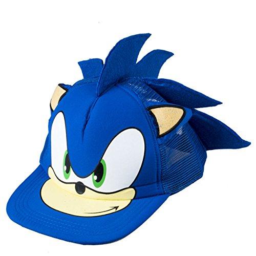 MIAOGE Giocattoli sonici Simpatico Cartone Animato per Bambini Sonic The Hedgehog Baseball Hats cap Boy Girl Youth Cappello Blu Hip-Hop Regolabile