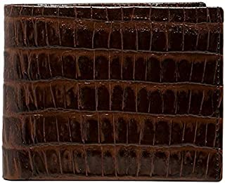 RFID Brown Croc Billfold Wallet