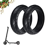 <span class='highlight'><span class='highlight'>Konesky</span></span> 8 Inch Scooter Solid Tyre, 2pcs Electric Scooter Wheel Tyre Front Rear Explosion-proof Tubeless Replacement Tires Compatible with Ninebot Scooter ES1 ES2 ES4