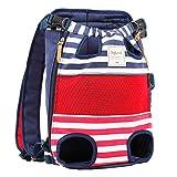 SISVIV Tragetuch Hund Haustier Rucksack Hund Tasche Rucksack für Spaziergänge, Wandern,Geeignet für kleine Hunde (One Size, Rot)