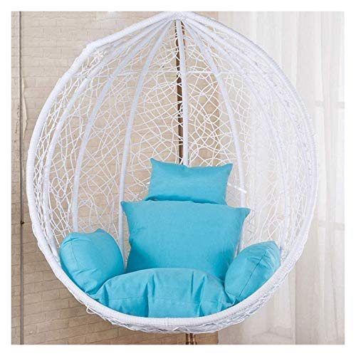 LLNN Home Decoration Swing Chair Cushion Rattan Wicker Egg Hammock Chair Pads, Hanging Chair Pads with Comfortable Pillow, for Indoor Outdoor Bedroom Patio Garden Hanging Basket Furniture Cushion