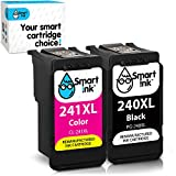 Smart Ink Remanufactured Ink Cartridge Replacement for Canon 240 241 PG-240XL CL-241XL to use with Pixma MG3620 MG3520 MX472 TS5120 MX452 MX432 MX532 MG3220 Printer (Black & Color XL Combo Pack)