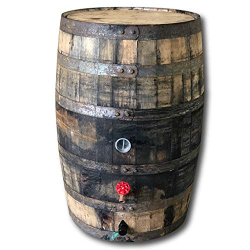 Whiskey/Bourbon Barrel Rain Barrel, 53 Gallon, Used Food Grade Oak Barrel