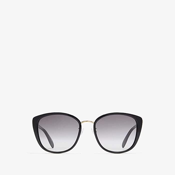 Alexander McQueen  AM0186SK (Shiny Light Gold/Grey Gradient) Fashion Sunglasses