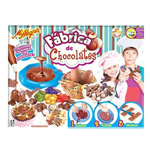 Mi Alegria Fabrica De Chocolates Plato Fundidor + Materiales para Envolver y presentar los Chocolates - Moldes de Diferentes Formas