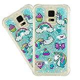 IMEIKONST Glitter Case pour Galaxy S5 Étui, Brillant Paillette Sparkle Floating Quicksands Housse...
