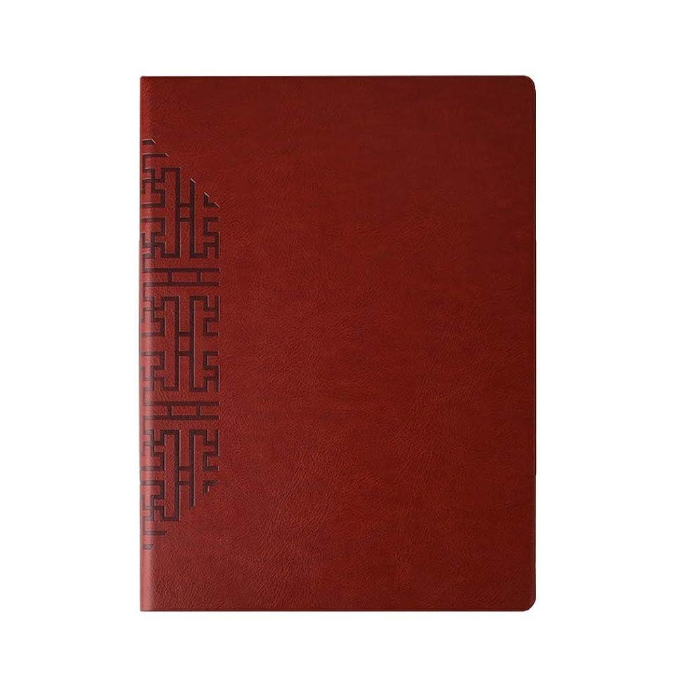 日記帳 ノートブックA 4ブラックメモ帳厚い特大ビジネス事務記録帳ソフトレザー352ページ ノート (Color : Brown, サイズ : 29*21.5cm)
