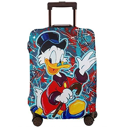 Funda protectora para maleta de pato Donald de dibujos animados, lavable, diseño de impresión 3D, 4 tamaños para la mayoría de equipaje bolsa protectora con cremallera