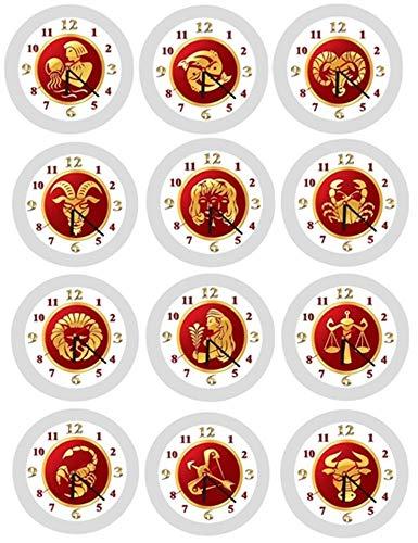 ✿ Wanduhr in 4 Farben ✿ STERNZEICHEN 1 Horoskop Astrologie ✿ KEIN TICKEN ✿ mit/ohne Name ✿ Waage, Skorpion, Schütze, Steinbock