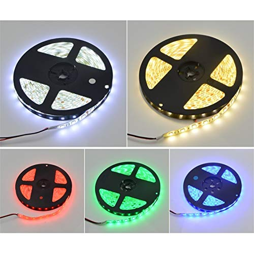 SUNXK Tira LED 5050 5630 2835 Lámpara RGB 12V 5M Cocina Flexible Cocina Lámpara Decorativa Impermeable 300 LED Cinta diodo con 60leds / M (Color : IP20, Emitting Color : Blue)