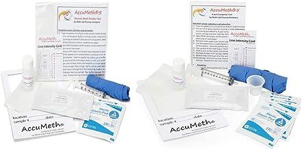 AccuMeth 2-Pack Instant Methamphetamine Residue Detection Test Kit for Homes   0.5 µg/100cm2 Legal Standard (Pack of 2)