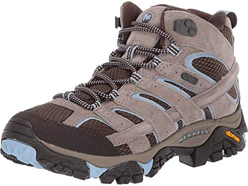 Merrell Women's Moab 2 MID WP Hiking Shoe, Brindle, 9.5