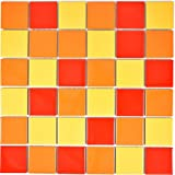 /Tonos rojo y naranja 900/g de fragmentos de azulejos para mosaico azulejos artesanales de M/éxico/