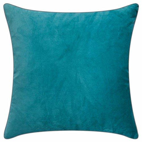 Pad - Elegance - fluwelen kussens, sierkussen, kussenhoes - 50 x 50 cm - kleur: aqua blauw - zonder vulling