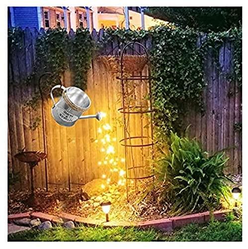 ZINE Star Shower Garden Art - Luz LED para jardín, luces de luciérnaga, alambre de cobre de hadas, luces de cuerda impermeable, decoración de metal de Pascua