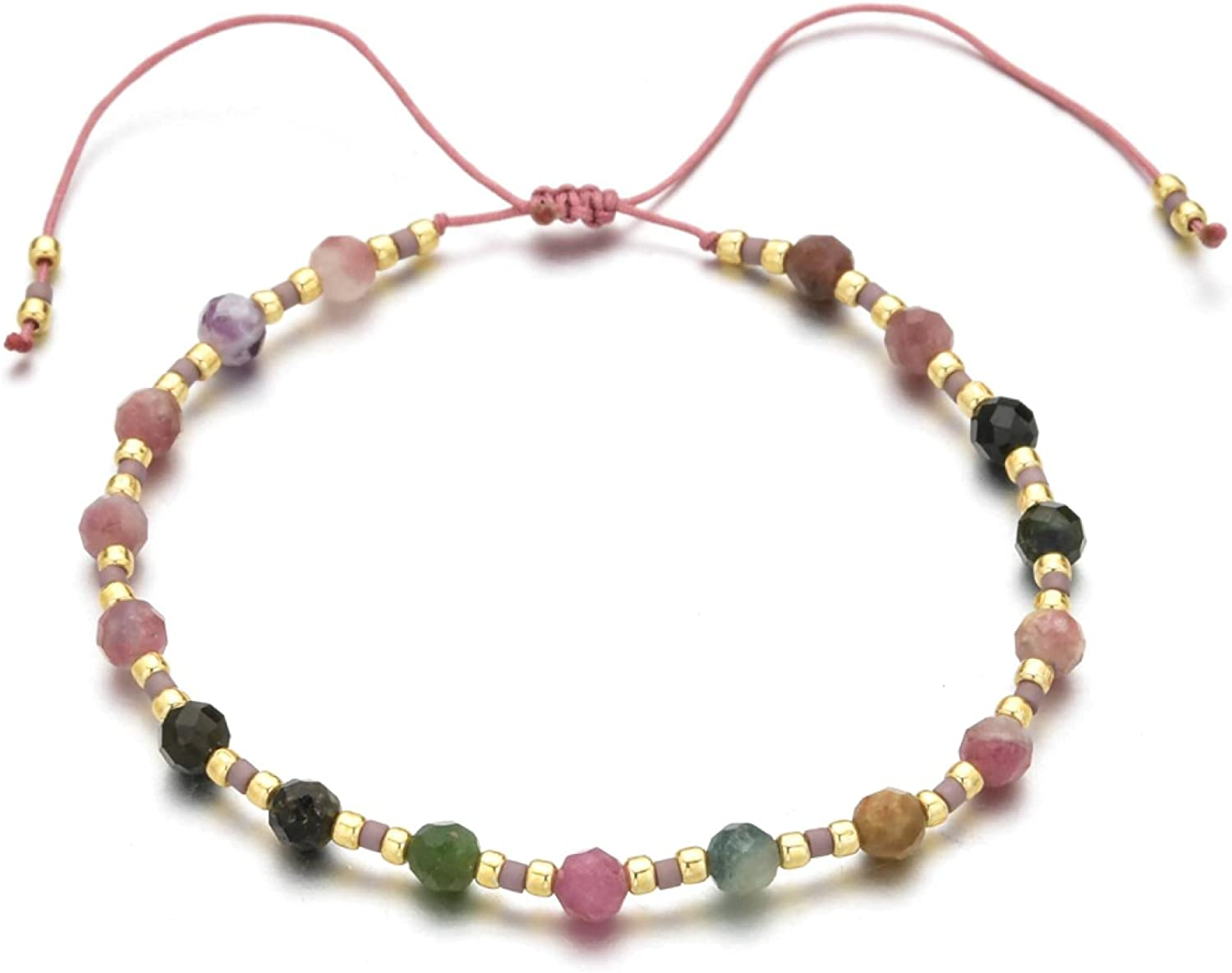 Bohemian Great interest Stone Beads Bracelet Hand-woven Discount mail order Jewellery Jewelry Charm