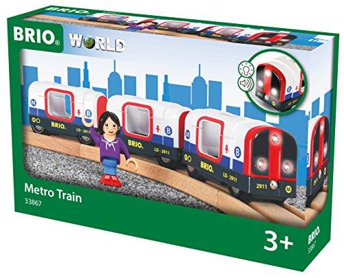 BRIO 33867 Metro con luz y sonido, BRIO Trenes-Vagones-Vehículos, Edad Recomendada 3+