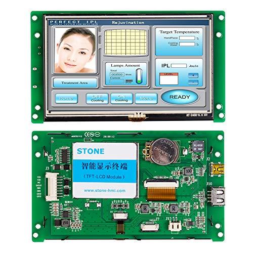 7 Zoll HMI TFT LCD Bildschirm Programmierbarer logischer LCD Steuerung Berührungsbildschirm für die Geräteverwendung Individuelle Verfügbarkeit