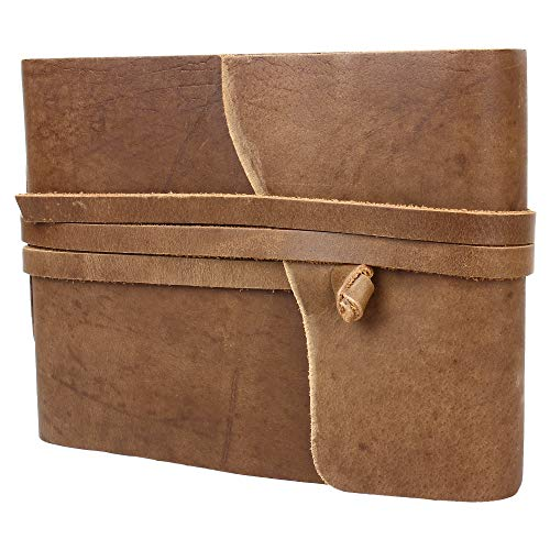 Leather Photo Album - Scrapbook Style Pages by Rustic Town (Medium) Gifts for Him Her