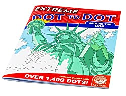 Image: Extreme Dot to Dot Around The USA Puzzle, by MindWare | With up to 1,400 dots in some puzzles