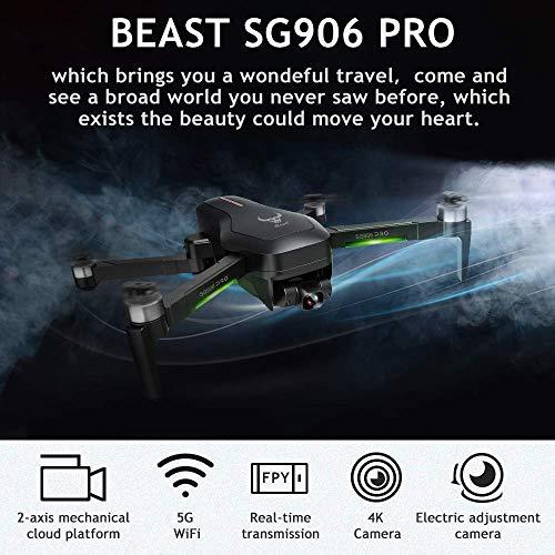 GoolRC SG906 PRO GPS RC Drohne mit Kamera 4K 5G WiFi 2-Achsen-Gimbal 25 Minuten Flugzeit Bürstenloser Quadcopter Follow Me MV Gestenfoto Mit tragbarem Gehäuse