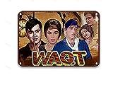 sfasf Waqt 1964 - Placa decorativa de metal para fiestas, exteriores, oficina, hombre, 20 x 30 cm