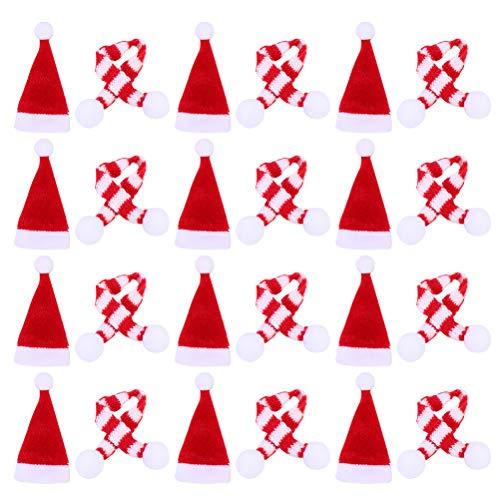 24 Stück Mini-Wollmütze für Weihnachten, Strickmütze, DIY-Handyschale, Dekoration, Weihnachtsdekoration, Weihnachtsgeschenkzubehör