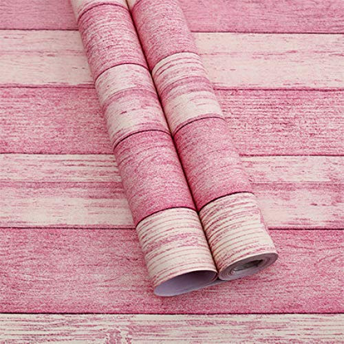 LZYMLG Impermeable PVC autoadhesivo papel pintado muebles renovación pegatinas dormitorio dormitorio sala TV fondo pared decoración papel pintado Madera veteada roja C