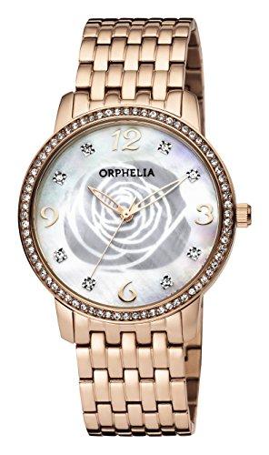 ORPHELIA Reloj Analogico para Mujer de Cuarzo con Correa en Acero Inoxidable OR12705