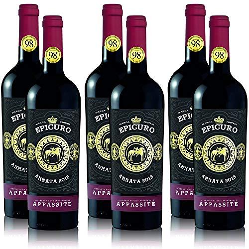 6 Flaschen Rotwein Epicuro Appassite Rosso Puglia IGP, feinherb, 2018