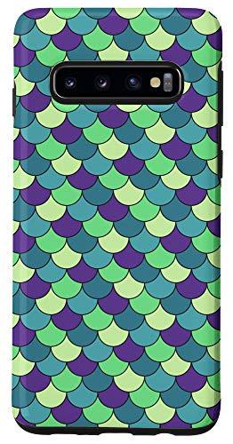 Galaxy S10 Pretty Mermaid in Green and Purple Pattern AEC177 Case