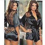 MEN.CLOTHING-LEE Conjuntos de lencería para Mujer Ropa de Dormir para Mujer S-XXL Plus Size Women Sexy Lingerie Lace...