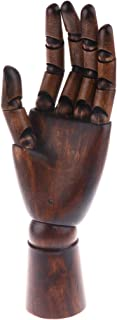 IPOTCH 1x Left Hand Body Artist Model Jointed Articulated Wood Sculpture Mannequin - Coppery, as described